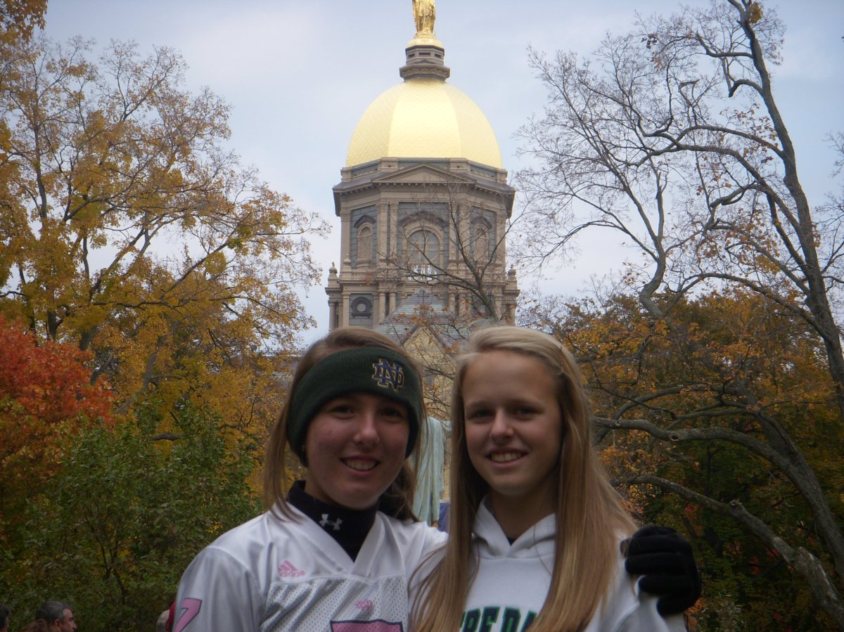 Libby and Morgan at ND