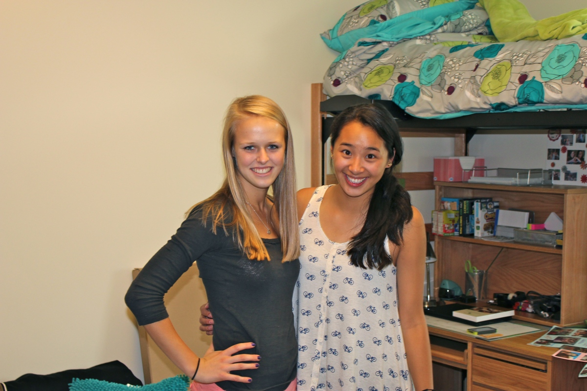 Stephanie and Morgan - 1st day at Wake Forest
