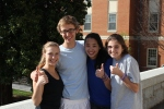 "Sam, Michael, Stephanie and Kitty - ""Thumbs up for Morgan"""