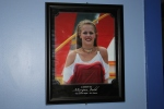 Photo of Morgan in Kings Island Dressing Room 2012