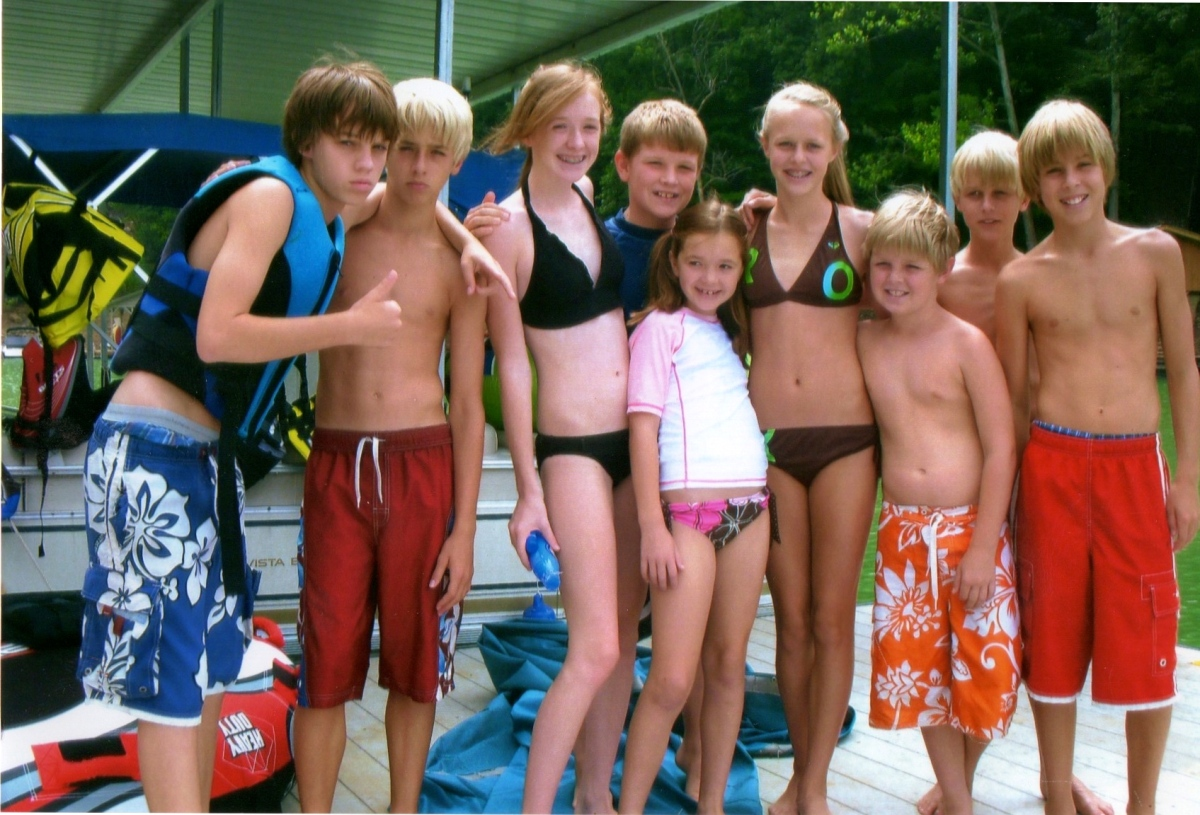 Norris Lake with cousins