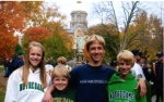 Michael, Morgan, Connor and Patrick at ND