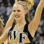 Cheering at Wake Forest